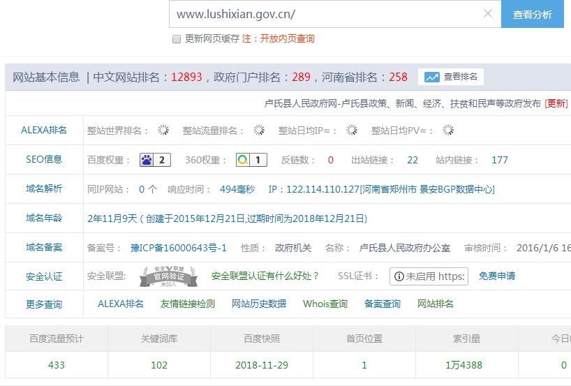 卢氏县人民政府网